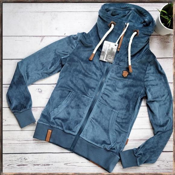 NWT NAKETANO Green Velvet Zip Jacket M This is a super cute